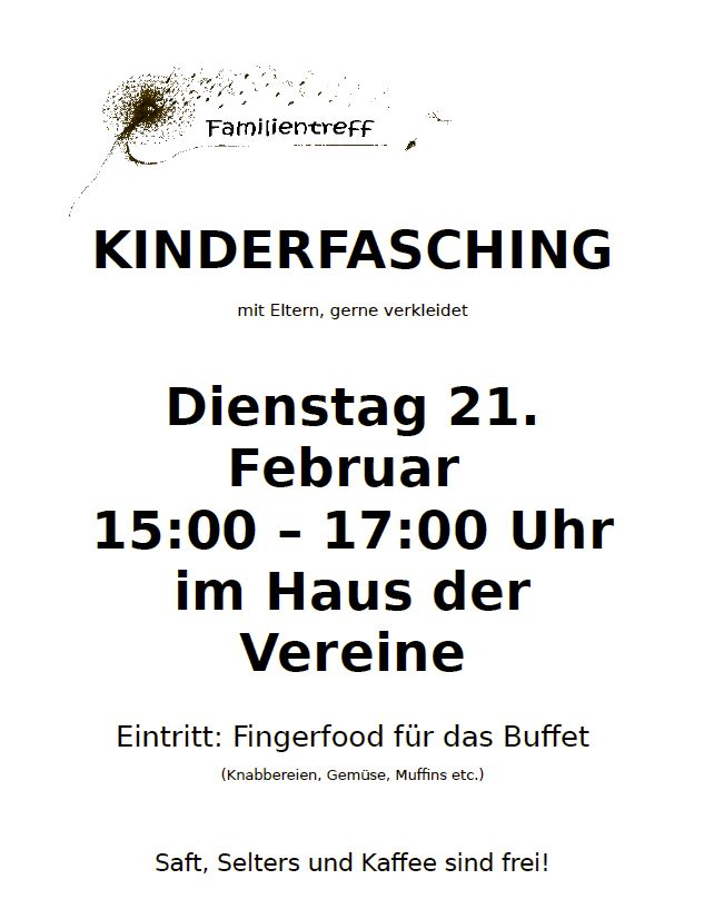 2017 kinderfasching