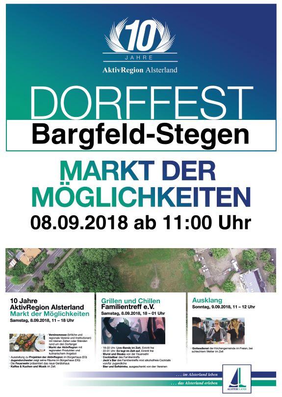 Dorffest und Markt der Möglichkeiten, danach Party auf dem Dorfplatz!